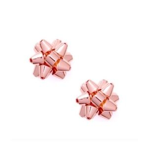 NEW Kate Spade Rose Gold Bourgeois Bow Earrings